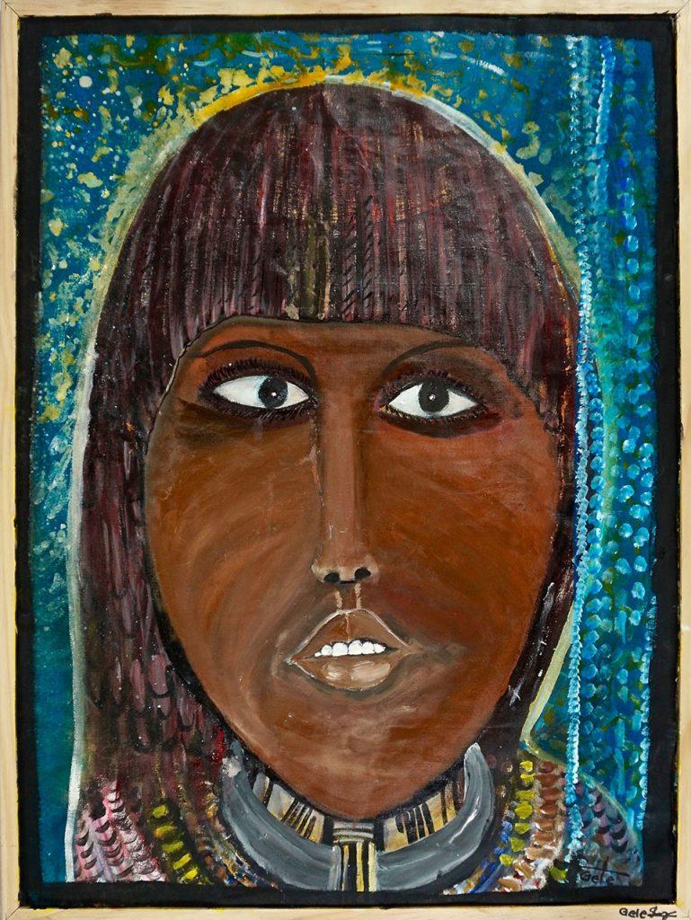 Hamar Woman Goiti, acrylic on canvas, 60 x 80 cm, € 800,-