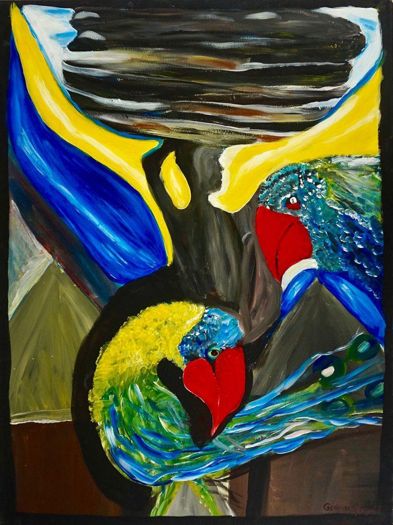 Gelefar Bird, acrylic on canvas, 60 x 80 cm, € 400,-