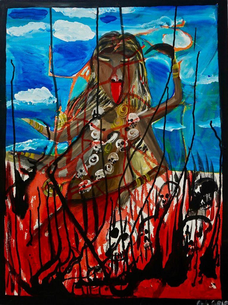 Kali, acrylic on canvas, 60 x 80 cm, € 650,-