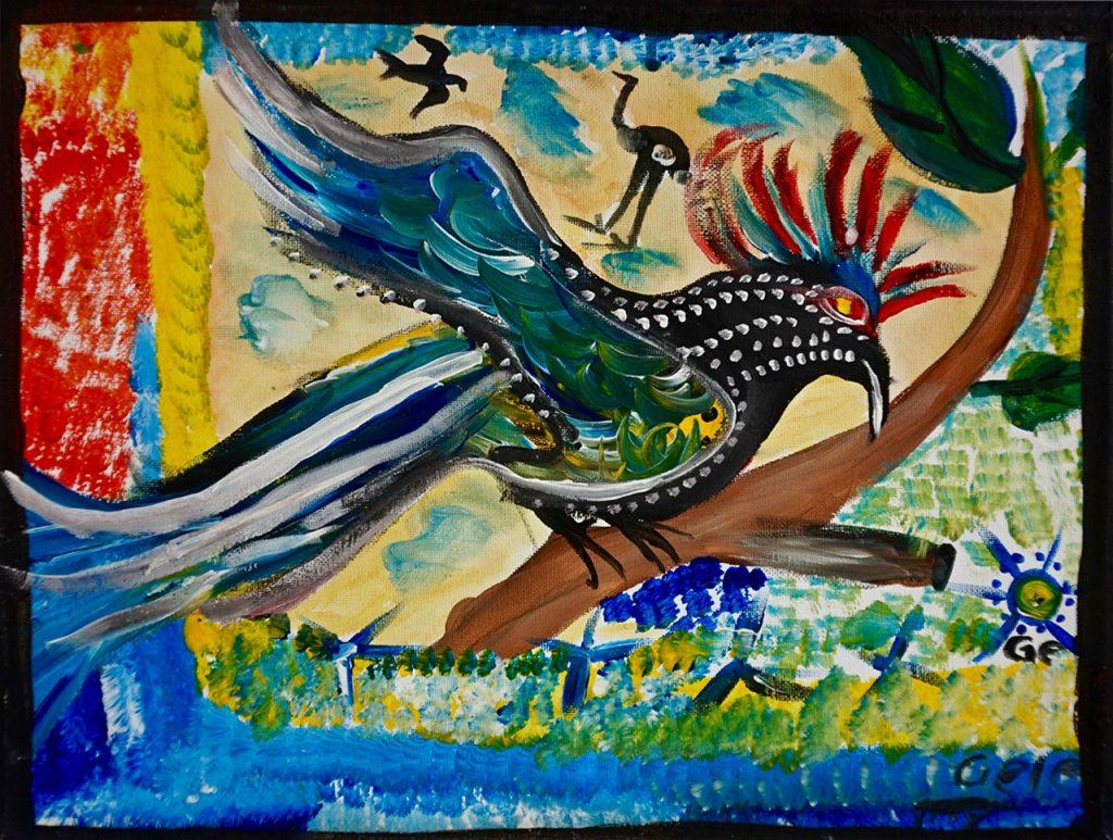Bird, acrylic on canvas, 30 x 40 cm, € 300,-
