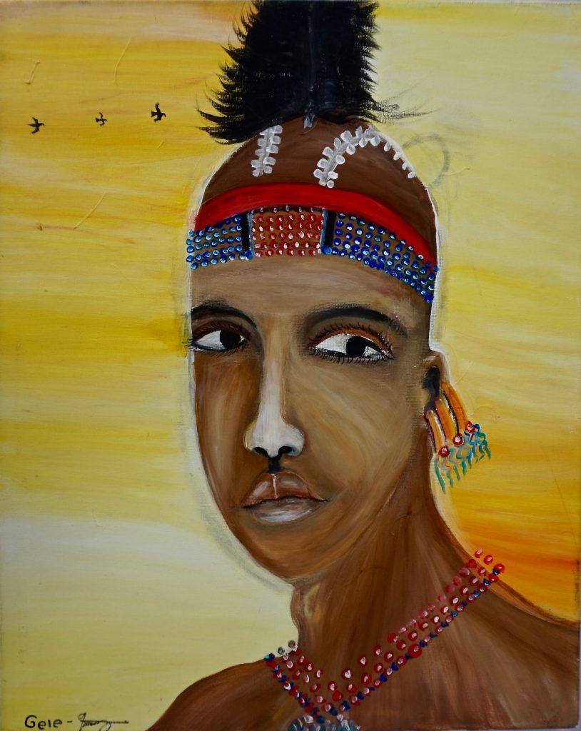 Ayke Hamarman , acrylic on canvas, 50 x 40 cm, € 400,-