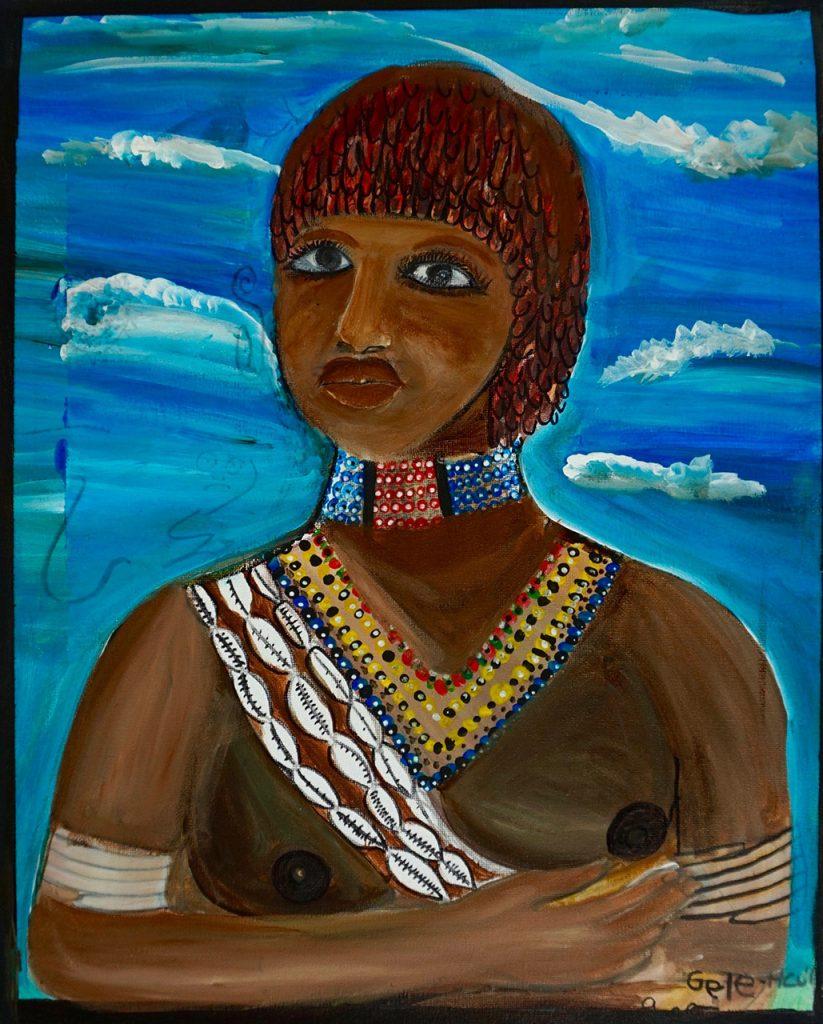Haito Hamar Girl, acrylic on canvas, 40 x 50 cm, € 400,-