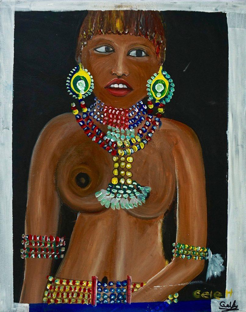 Hamar young girl, acrylic on canvas, 40 x 50 cm, € 310,-