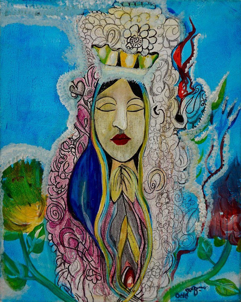 Yoni Maria, acrylic on canvas, 40 x 50 cm, € 400,-
