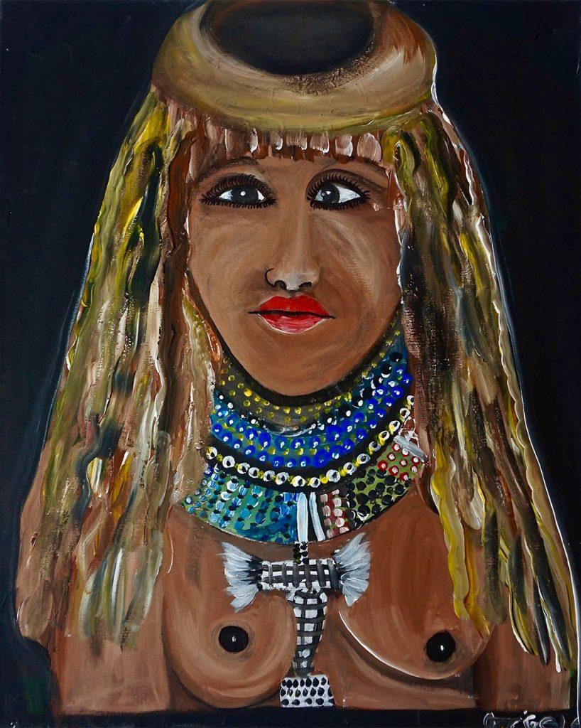 Masai Girl, acrylic on canvas, 40 x 50 cm, € 400,-