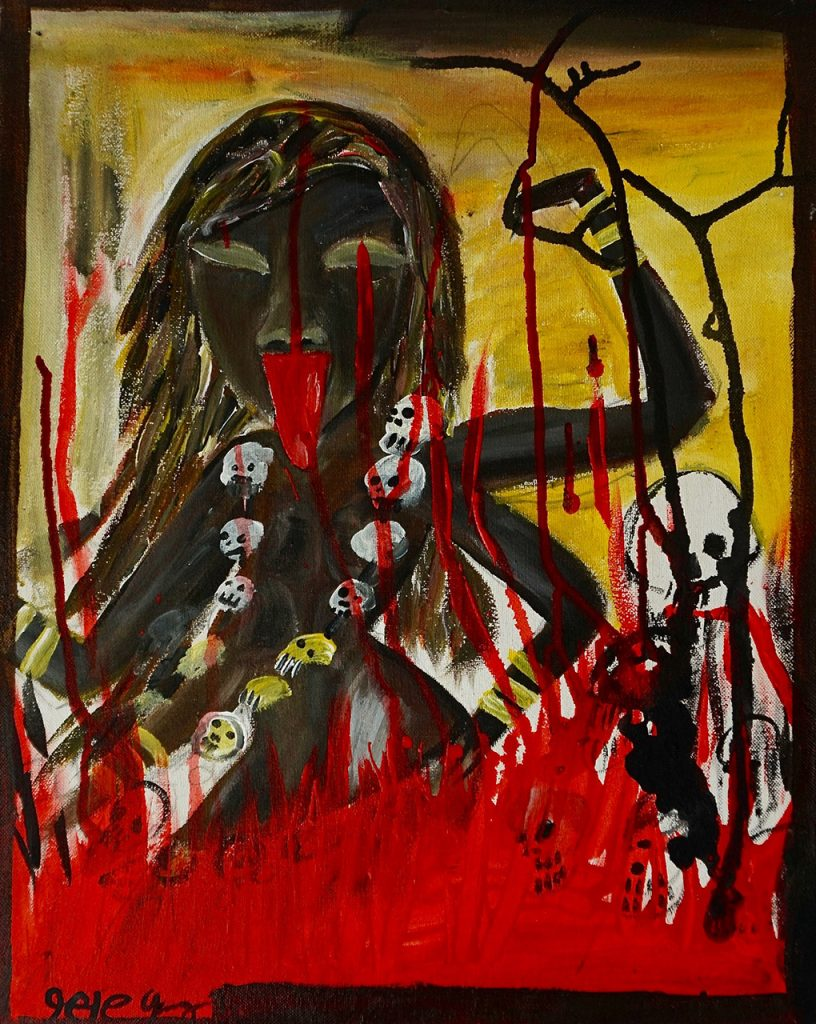 Kali, acrylic on canvas, 40 x 50 cm, € 400,-