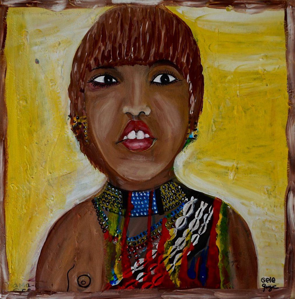 Hamar Girl, acrylic on canvas, 50 x 50 cm, € 800,-