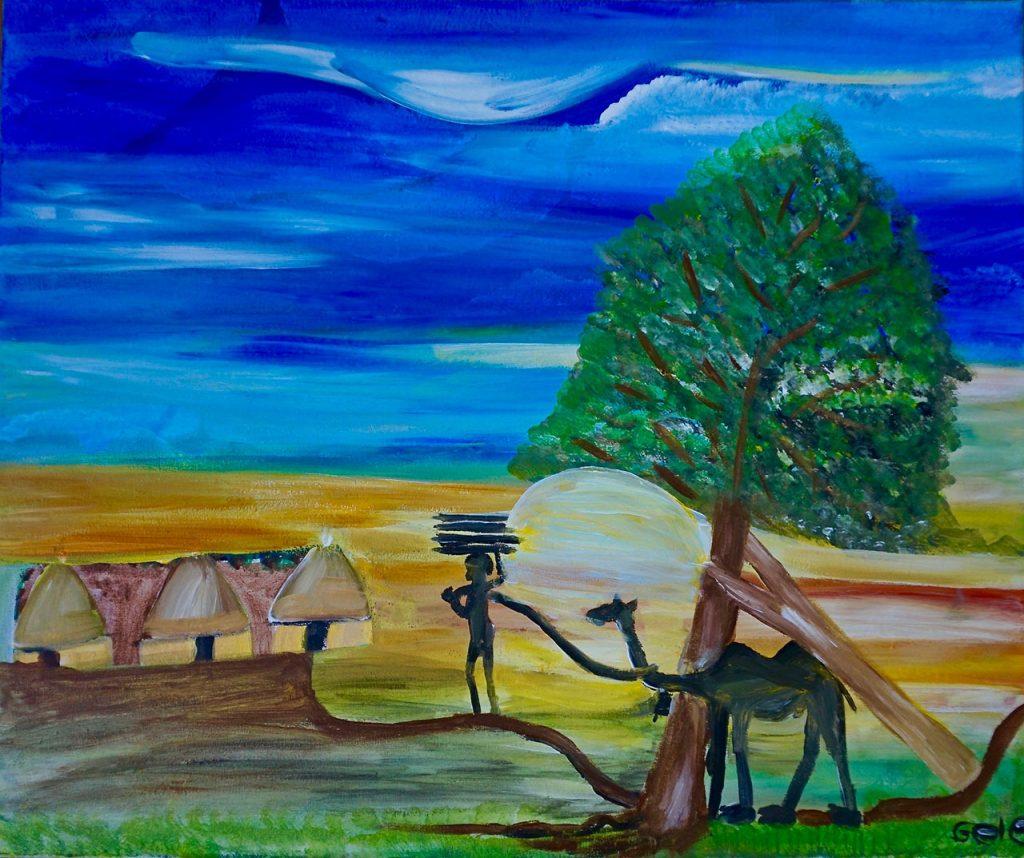 Hamar village, acrylic on canvas, 50 x 60 cm, € 660-