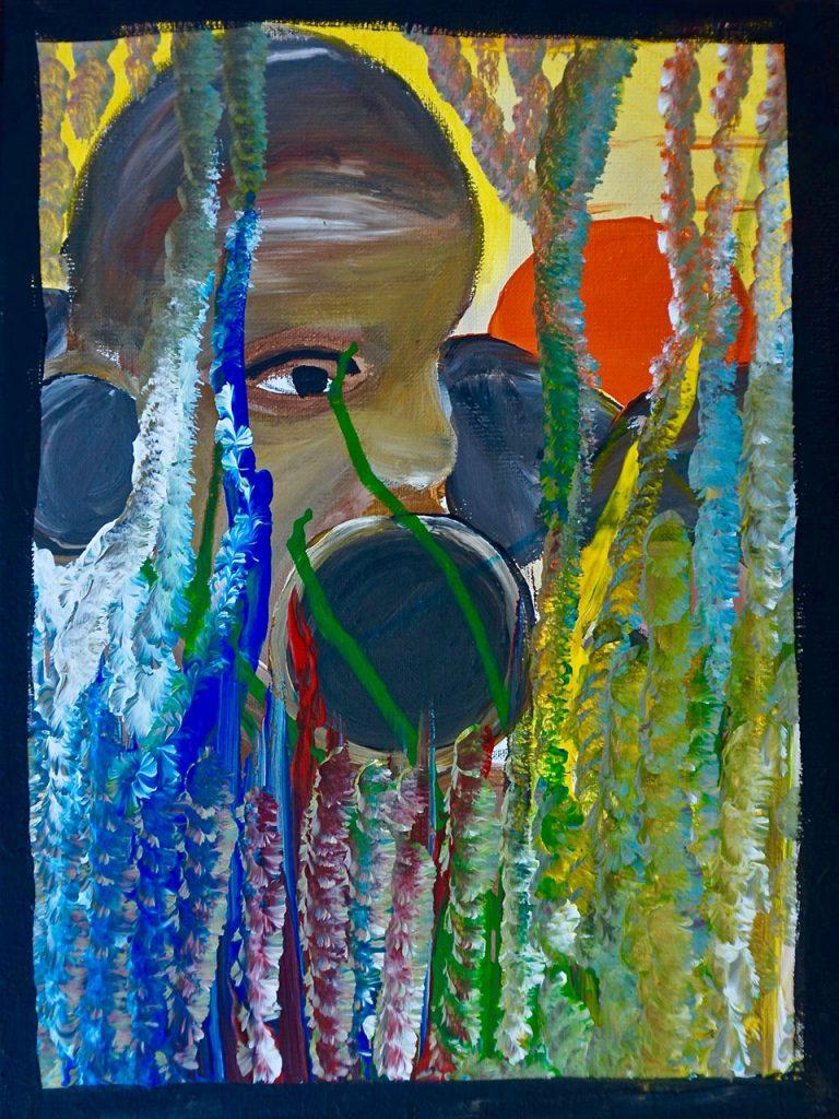 Mursi Girl Suri, acrylic on canvas, 30 x 40 cm, € 360,-